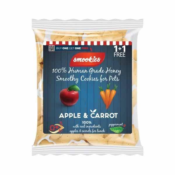 smookies μπισκοτα σκυλου μηλο με καροτο