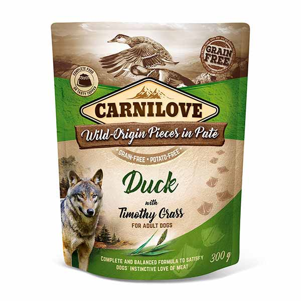 carnilove-pouches-υγρη τροφη-σκυλου-παπια-ολιστικη-διατροφη