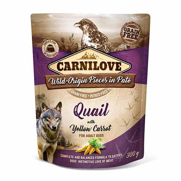 carnilove-φακελακια-υγρη τροφη-σκυλου-ορτυκι